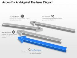 Arrows For And Against The Issue Diagram Powerpoint Template Slide