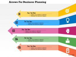 Arrows For Business Planning Flat Powerpoint Design