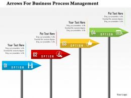 Arrows For Business Process Management Flat Powerpoint Design