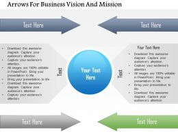 Arrows For Business Vision And Mission Powerpoint Template