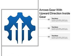 Arrows Gear With Upward Direction Inside Gear