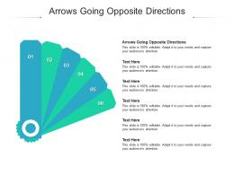 Arrows Going Opposite Directions Ppt Powerpoint Presentation Layouts Layout Cpb