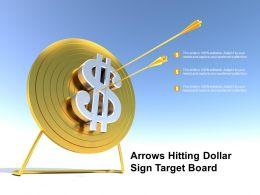 Arrows Hitting Dollar Sign Target Board