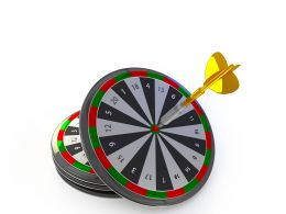 Arrows Hitting The Center Of Target Success Business Concept Stock Photo