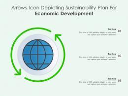 Arrows Icon Depicting Sustainability Plan For Economic Development