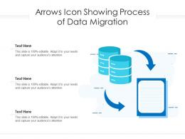 Arrows Icon Showing Process Of Data Migration