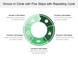Arrows In Circle With Five Steps With Repeating Cycle
