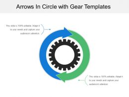 Arrows In Circle With Gear Templates