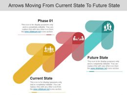 Arrows Moving From Current State To Future State Example Of Ppt