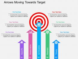 Arrows Moving Towards Target Flat Powerpoint Design