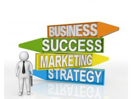 Arrows Of Business Success Marketing And Strategy Stock Photo