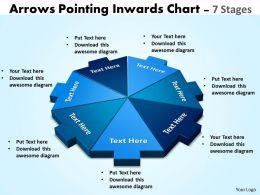 arrows pointing circular diagram inwards chart 4