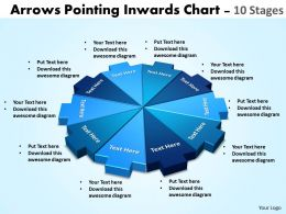 arrows pointing inwards chart 10 stages powerpoint templates 1