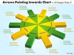 arrows pointing inwards chart 10 stages style 3 powerpoint 2