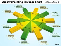 arrows pointing inwards chart 10 stages style 3 powerpoint templates