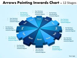 arrows pointing inwards chart 12 stages editable 1