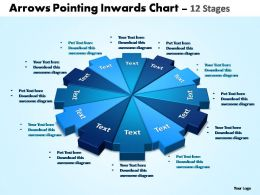 arrows pointing inwards chart 12 stages editable powerpoint templates