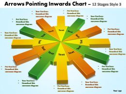 arrows pointing inwards chart 12 stages style 3 powerpoint templates