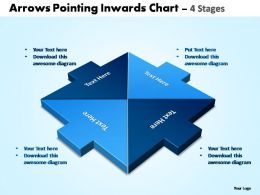 arrows pointing inwards chart 4 stages powerpoint templates