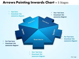 Arrows Pointing Inwards Chart 5 Stages 5