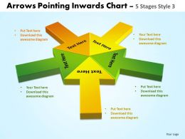 Arrows Pointing Inwards Chart 5 Stages 6