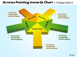 arrows pointing inwards chart 5 stages style 3 powerpoint templates