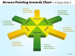 Arrows Pointing Inwards Chart 6 Stages 4