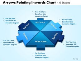 Arrows Pointing Inwards Chart 6 Stages Editable 3