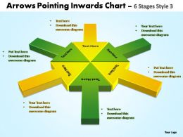 arrows pointing inwards chart 6 stages style 3 powerpoint templates