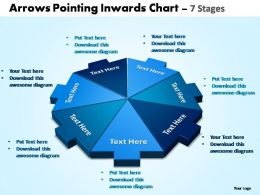arrows pointing inwards chart 7 stages editable powerpoint templates