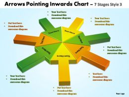 arrows pointing inwards chart 7 stages style 3 powerpoint templates