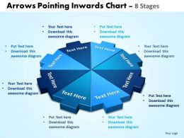 Arrows Pointing Inwards Chart 8 Stages Editable 1