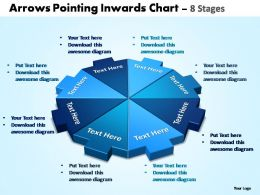arrows pointing inwards chart 8 stages editable powerpoint templates
