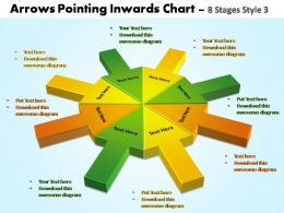 arrows pointing inwards chart 8 stages style 3 powerpoint templates