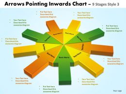 Arrows Pointing Inwards Chart 9 Stages 1