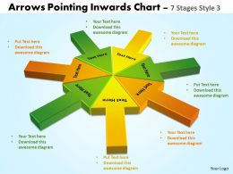 arrows pointing inwards circular templates chart 5