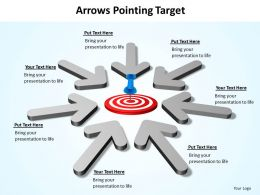 arrows pointing towards bullseye target powerpoint diagram templates graphics 712