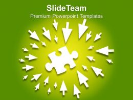 Arrows Pointing Towards Puzzle Business Powerpoint Templates Ppt Themes And Graphics