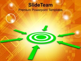 Arrows Pointing Towards Target Business Powerpoint Templates Ppt Themes And Graphics 0113