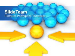 Arrows Pointing Towards Team Leader Powerpoint Templates Ppt Themes And Graphics 0313