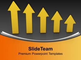 Arrows Pointing Upwards Success Business Powerpoint Templates Ppt Themes And Graphics 0213