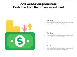 Arrows Showing Business Cashflow From Return On Investment