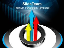 Arrows Showing Growth In Global Business Powerpoint Templates Ppt Themes And Graphics 0313