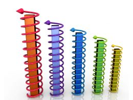 arrows_twisted_around_bars_for_growth_graph_stock_photo_Slide01