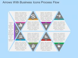 Arrows With Business Icons Process Flow Flat Powerpoint Design