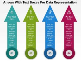 Arrows With Text Boxes For Data Representation Flat Powerpoint Design