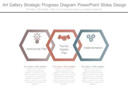 Art Gallery Strategic Progress Diagram Powerpoint Slides Design