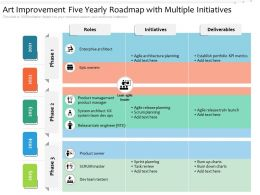 Art Improvement Five Yearly Roadmap With Multiple Initiatives