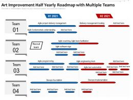 Art Improvement Half Yearly Roadmap With Multiple Teams