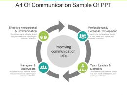 Art Of Communication Sample Of Ppt